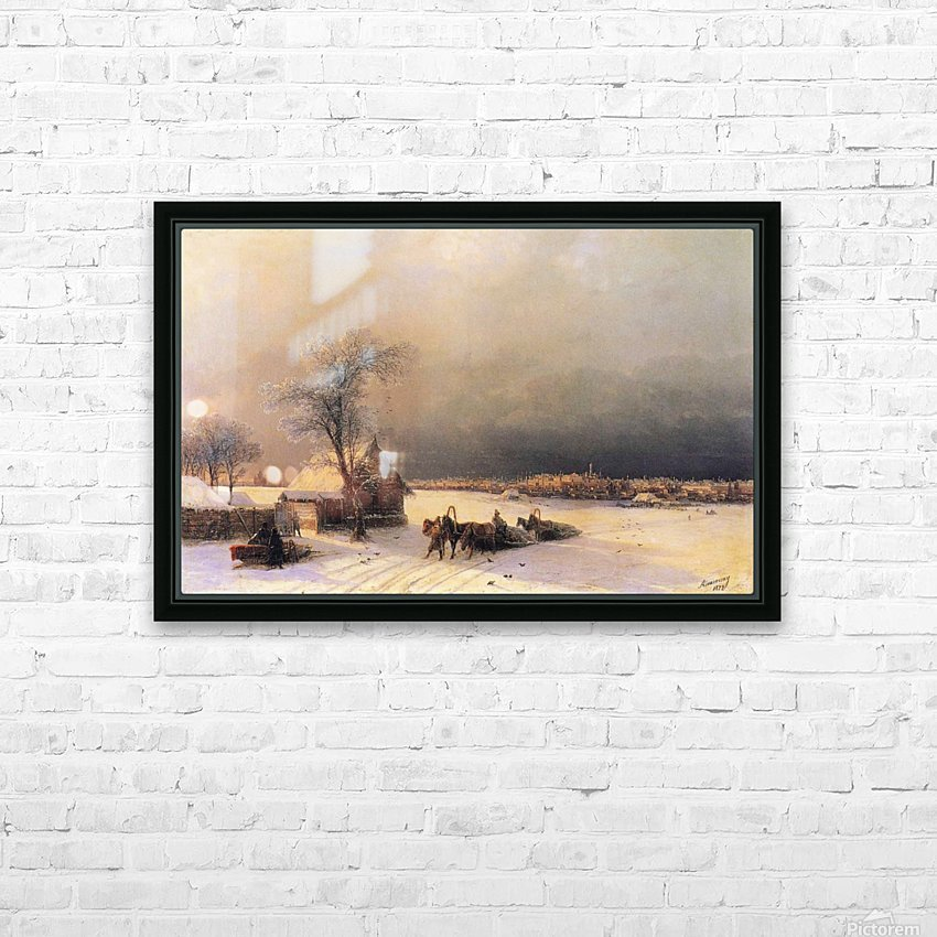 Moscow in Winter from the Sparrow Hills HD Sublimation Metal print with Decorating Float Frame (BOX)