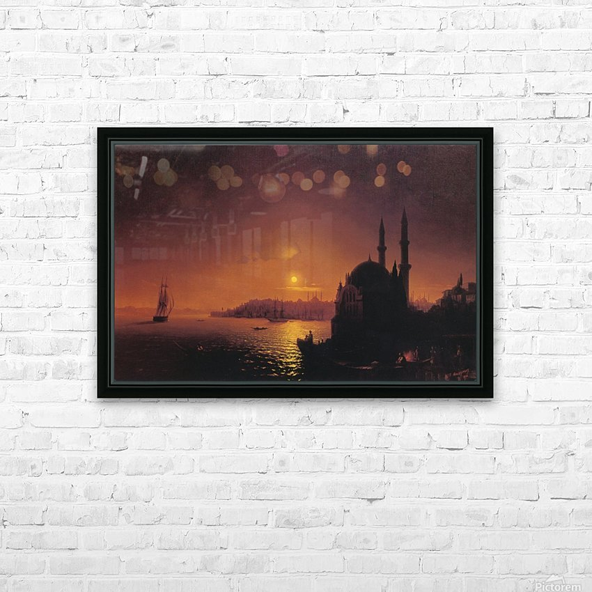 View of Constantinople by Moonlight HD Sublimation Metal print with Decorating Float Frame (BOX)