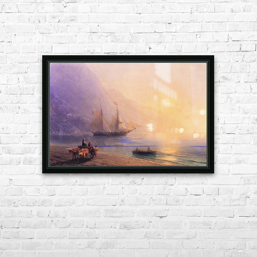 Loading Provisions off the Crimean Coast HD Sublimation Metal print with Decorating Float Frame (BOX)