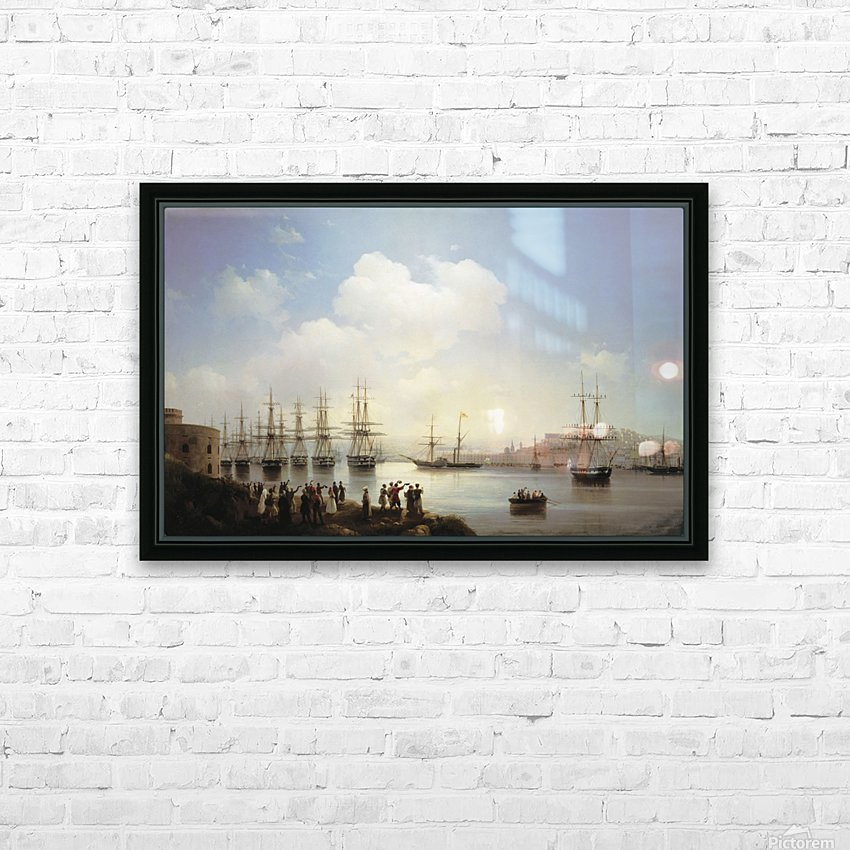 Russian squadron on the raid of Sevastopol HD Sublimation Metal print with Decorating Float Frame (BOX)