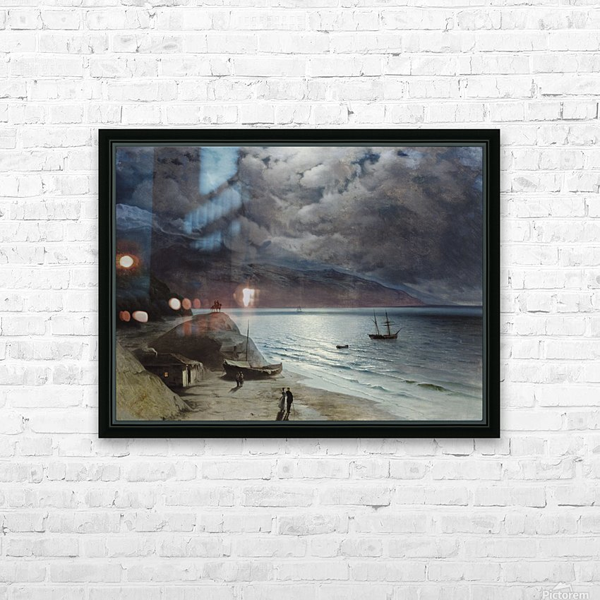 Watching the sea HD Sublimation Metal print with Decorating Float Frame (BOX)