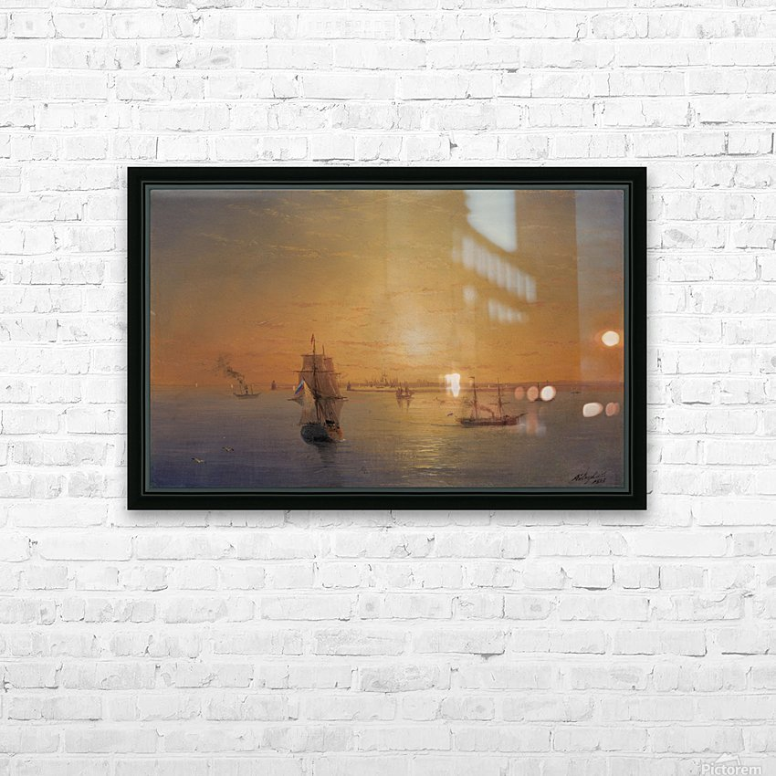 Russian Fleet at Sunset HD Sublimation Metal print with Decorating Float Frame (BOX)