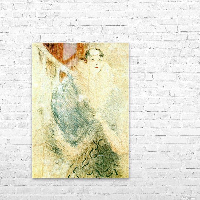 Elsa dite la Liennoise by Toulouse-Lautrec HD Sublimation Metal print with Decorating Float Frame (BOX)