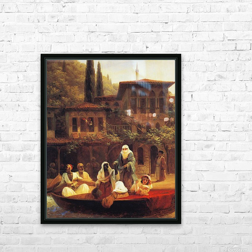 Boat Ride by Kumkapi in Constantinople HD Sublimation Metal print with Decorating Float Frame (BOX)