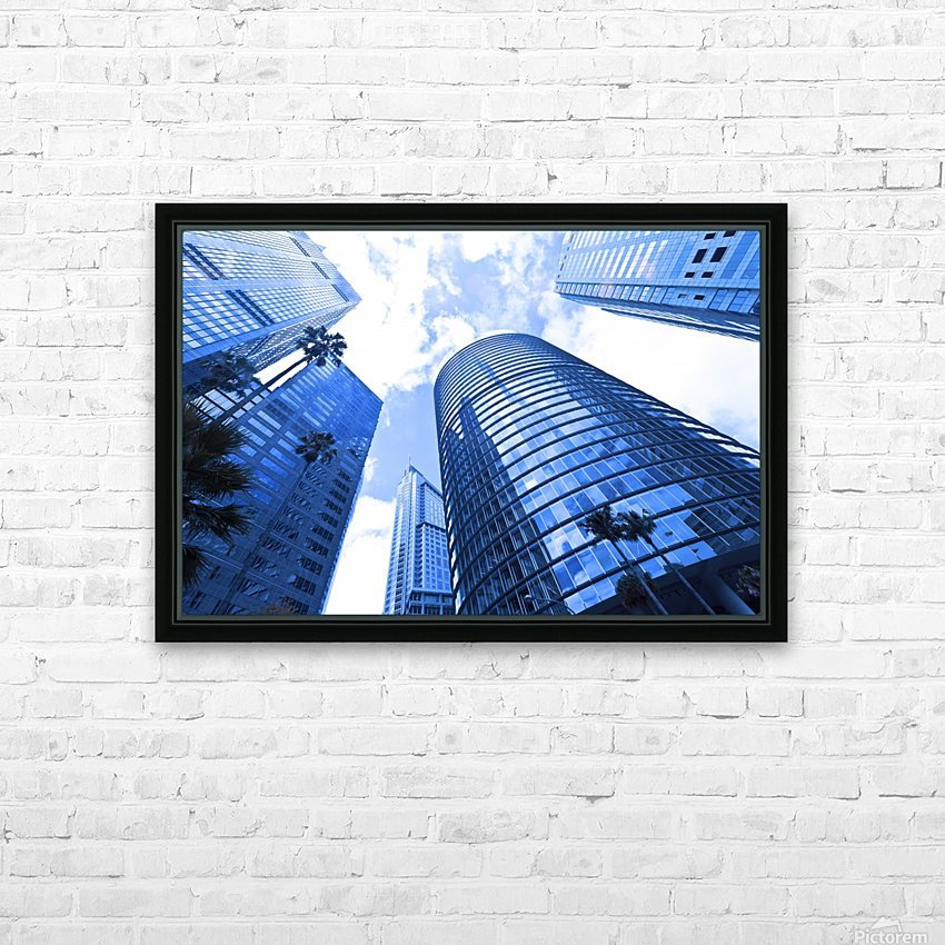 Skyscrapers reflections clouds HD Sublimation Metal print with Decorating Float Frame (BOX)