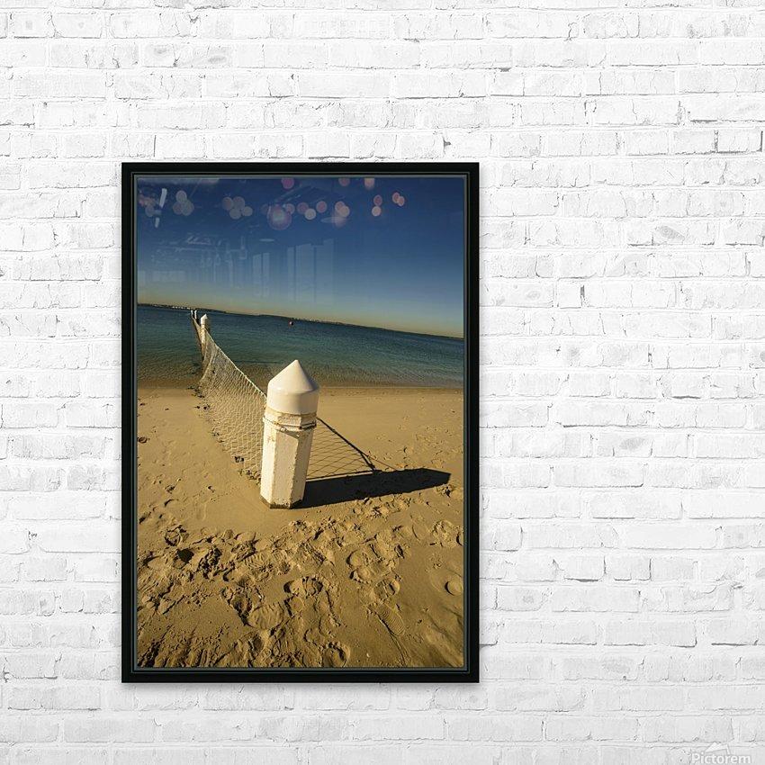 Shark Net Corner Post Perspective Brighton le Sands Australia. HD Sublimation Metal print with Decorating Float Frame (BOX)