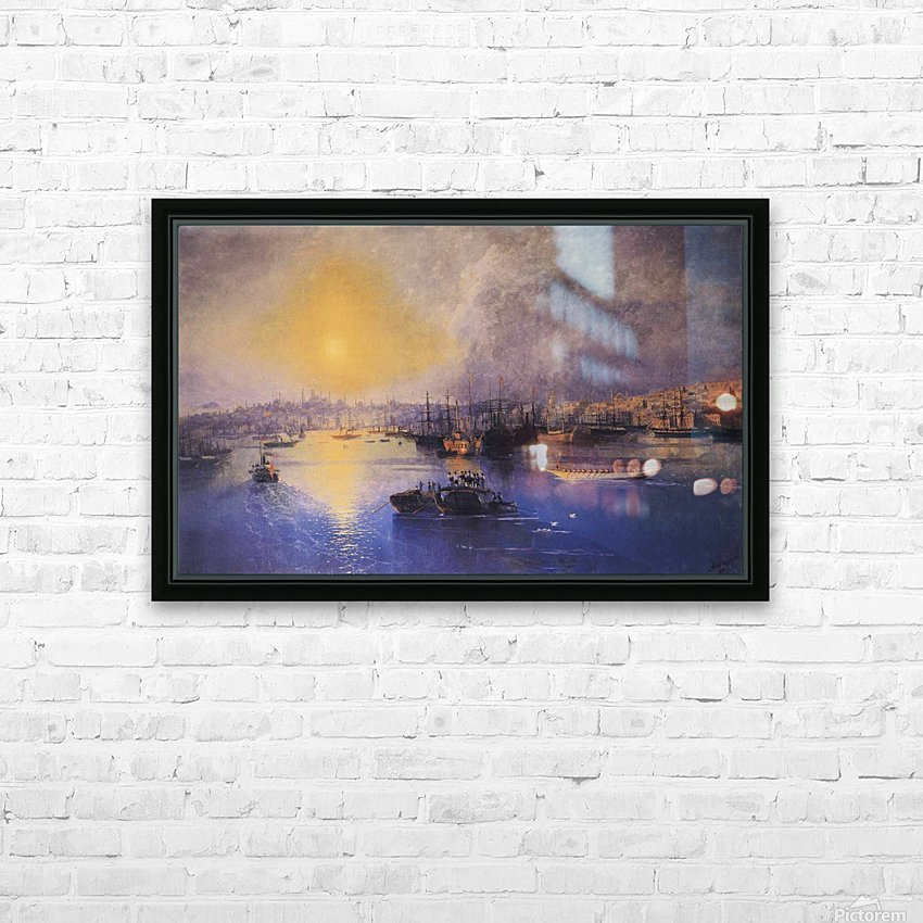Constantinople Sunset HD Sublimation Metal print with Decorating Float Frame (BOX)