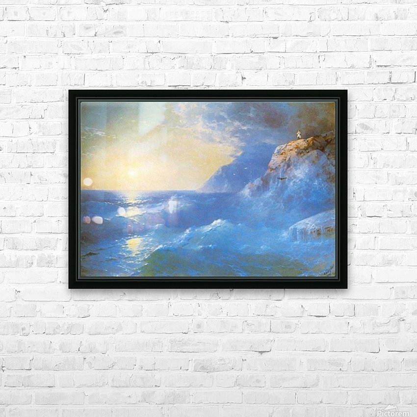 Napoleon on island of St. Helen HD Sublimation Metal print with Decorating Float Frame (BOX)