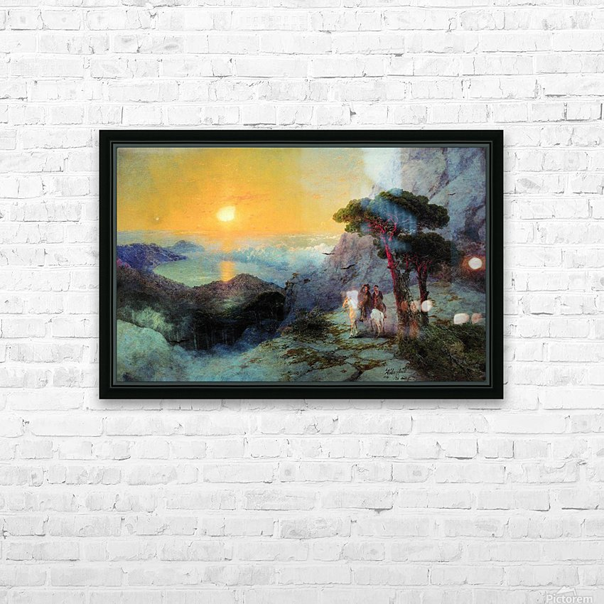 On top of the Ai-Petri Mountain at sunrise HD Sublimation Metal print with Decorating Float Frame (BOX)