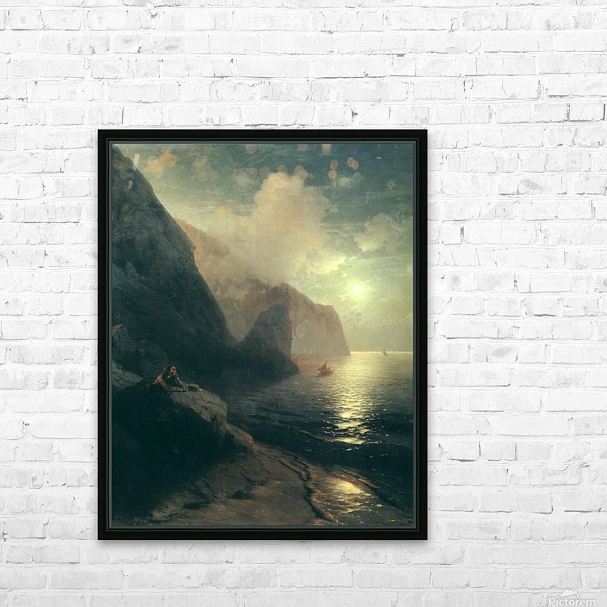 Pushkin in the Crimea at Gurzuf rocks HD Sublimation Metal print with Decorating Float Frame (BOX)