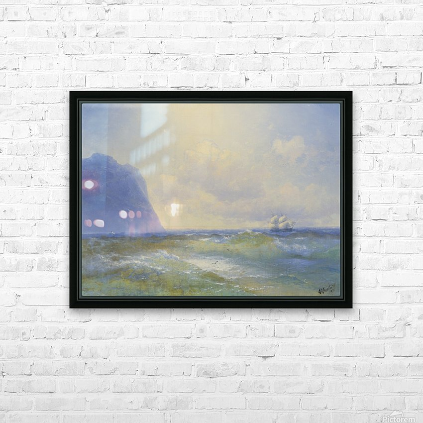 Sun on the sea HD Sublimation Metal print with Decorating Float Frame (BOX)