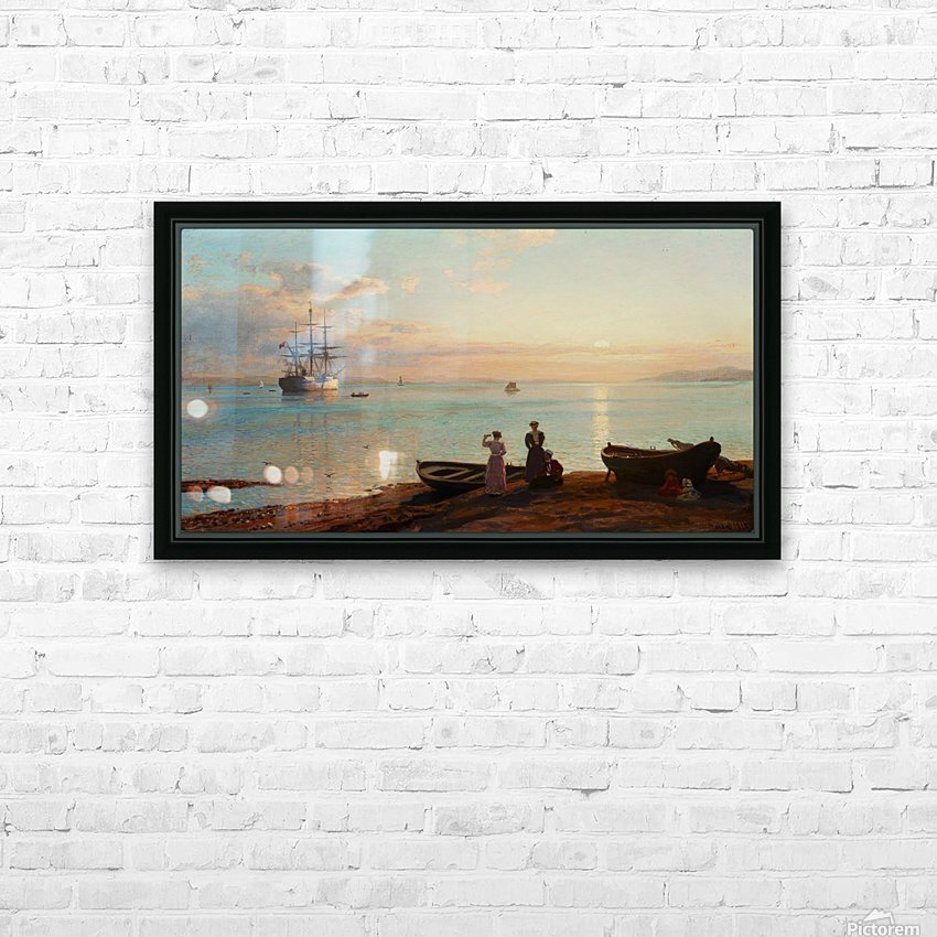 Sea view HD Sublimation Metal print with Decorating Float Frame (BOX)