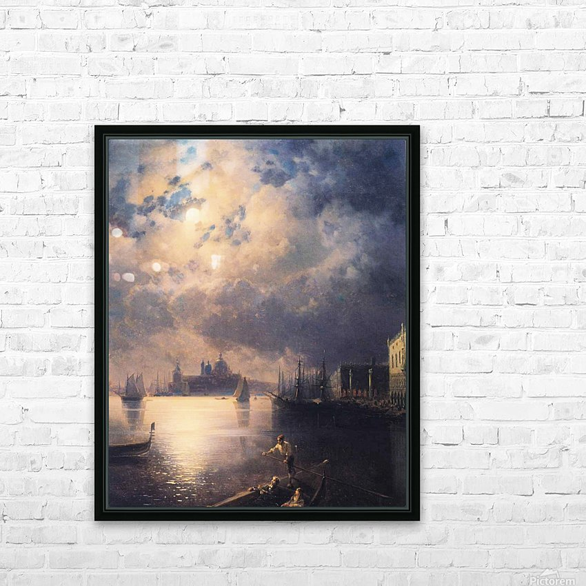 Byron in Venice HD Sublimation Metal print with Decorating Float Frame (BOX)