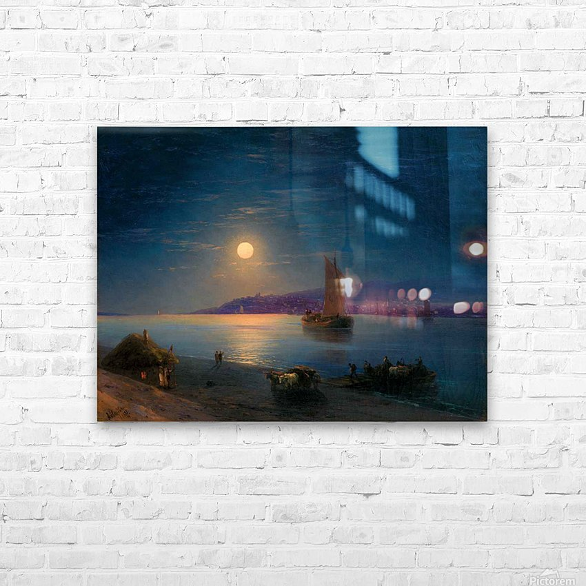 Night at the sea HD Sublimation Metal print with Decorating Float Frame (BOX)