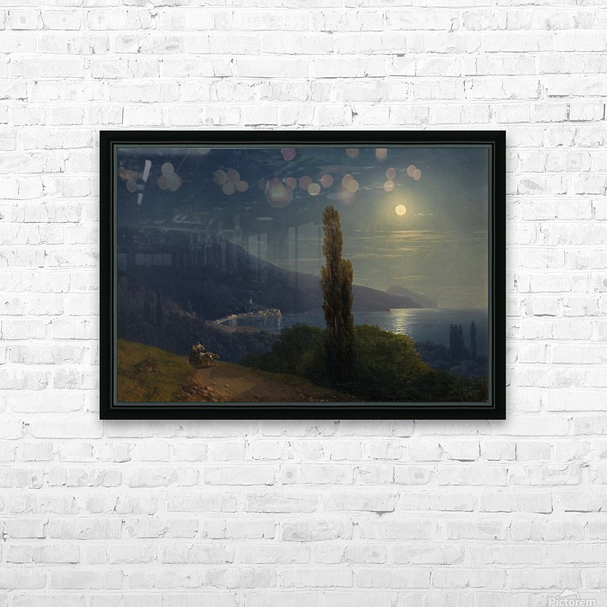 Moonlight by the sea HD Sublimation Metal print with Decorating Float Frame (BOX)