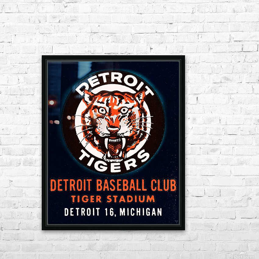 1963 Detroit Tigers Vintage Baseball Club HD Sublimation Metal print with Decorating Float Frame (BOX)
