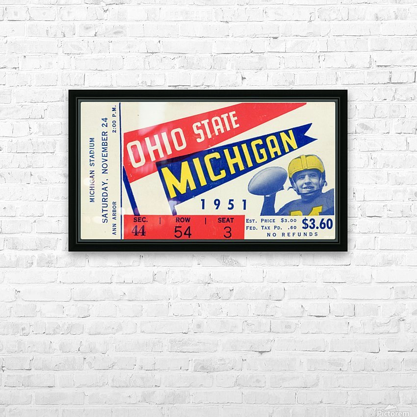 1951 Ohio State vs. Michigan HD Sublimation Metal print with Decorating Float Frame (BOX)