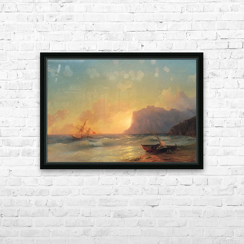 Sea. Koktebel HD Sublimation Metal print with Decorating Float Frame (BOX)