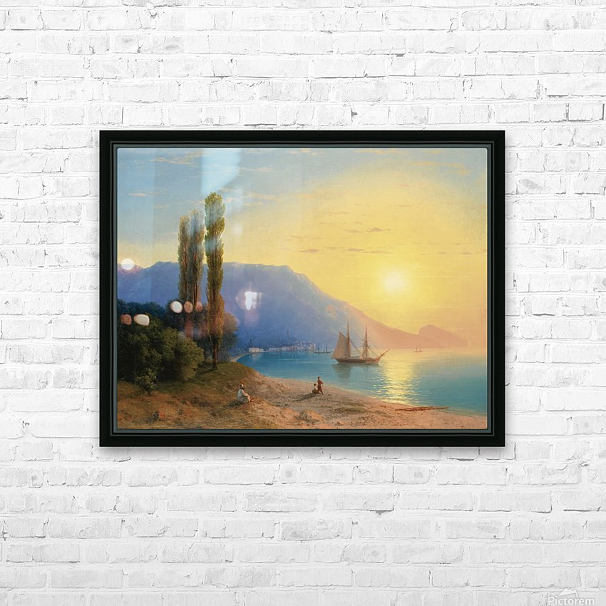 Sunset over Yalta HD Sublimation Metal print with Decorating Float Frame (BOX)