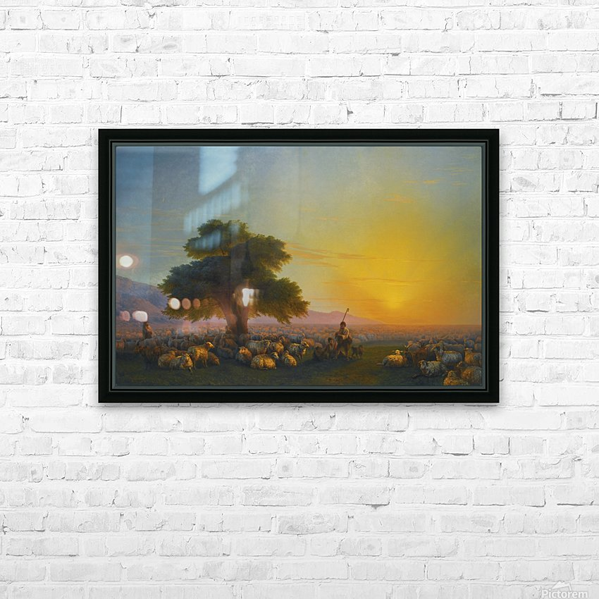 Sheeps in the sun HD Sublimation Metal print with Decorating Float Frame (BOX)