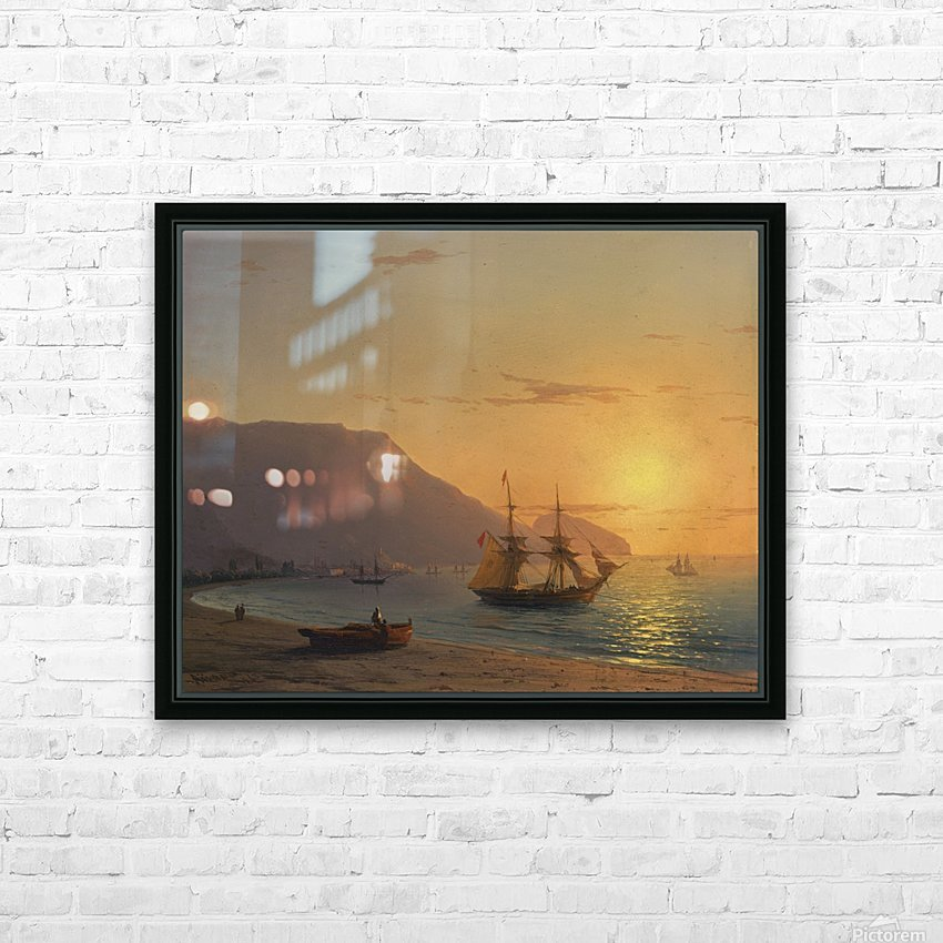 Sunset in Crimea HD Sublimation Metal print with Decorating Float Frame (BOX)