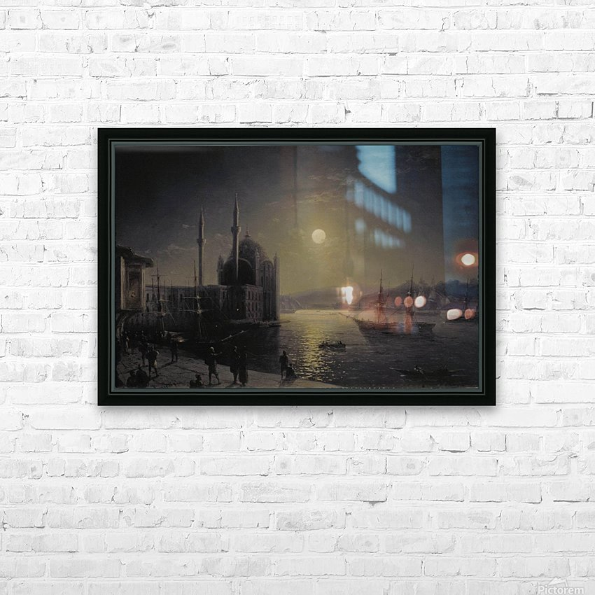 Moonlight on the Bosphorus HD Sublimation Metal print with Decorating Float Frame (BOX)