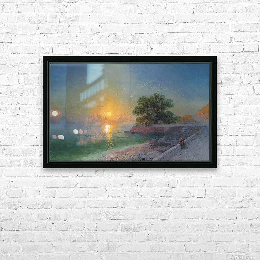 Promenade at sunset HD Sublimation Metal print with Decorating Float Frame (BOX)