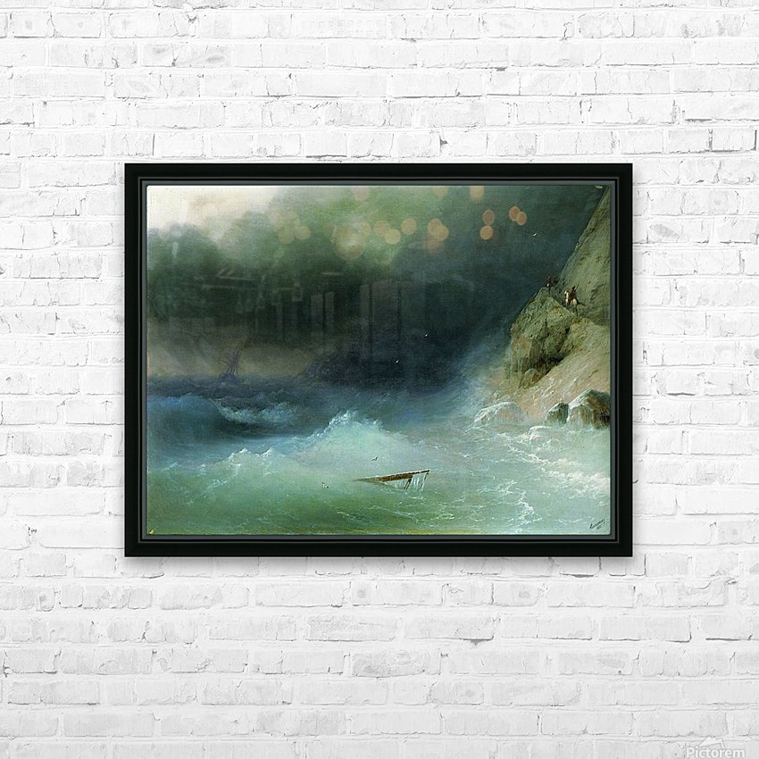 The Tempest near rocks HD Sublimation Metal print with Decorating Float Frame (BOX)