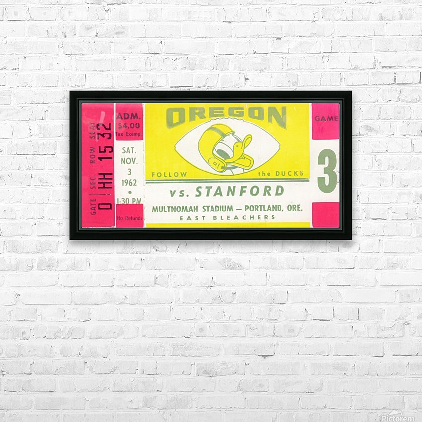 1962_College_Football_Oregon vs. Stanford_Multnomah Stadium_Row One Brand HD Sublimation Metal print with Decorating Float Frame (BOX)