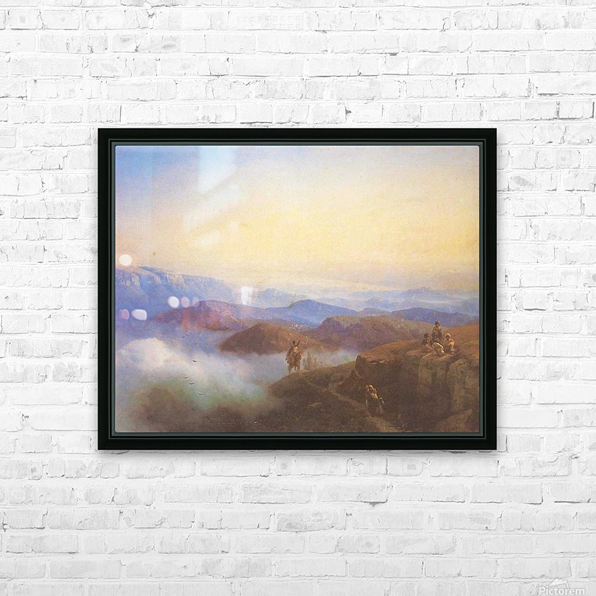 Range of the Caucasus mountains HD Sublimation Metal print with Decorating Float Frame (BOX)