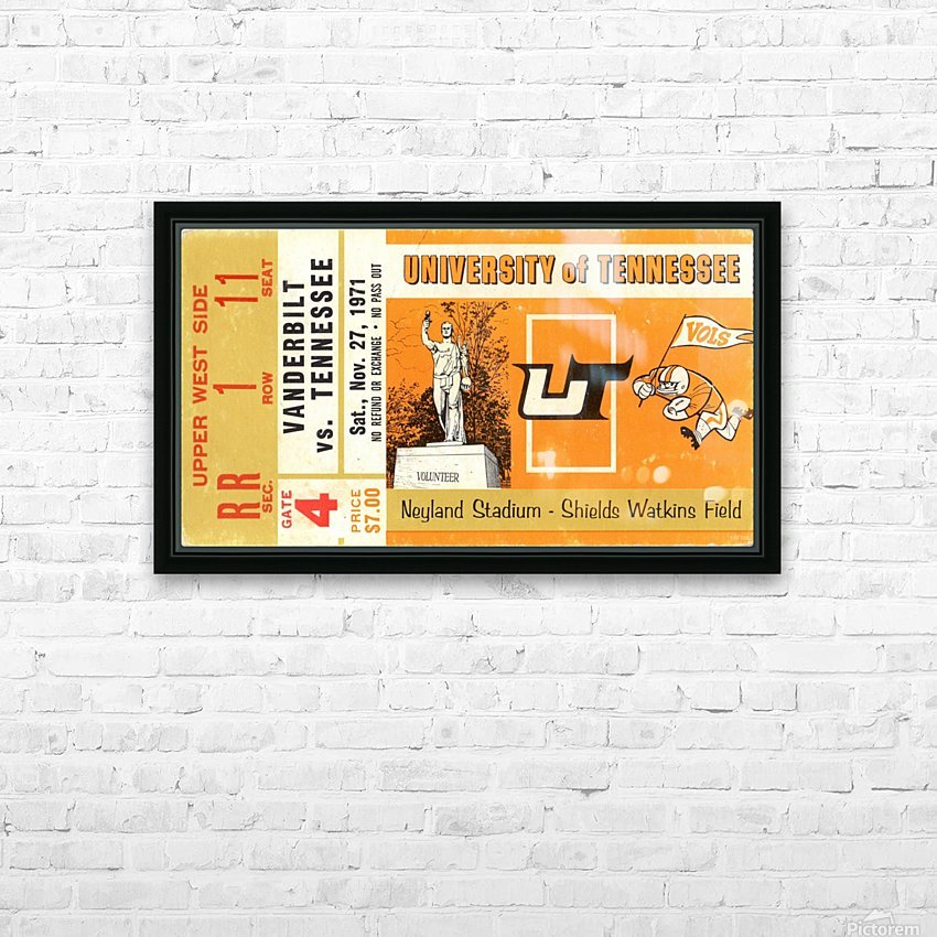 1971 Vanderbilt vs. Tennessee HD Sublimation Metal print with Decorating Float Frame (BOX)