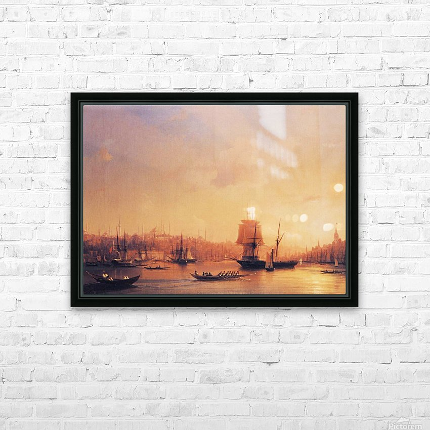 Dusk on the Golden Horn HD Sublimation Metal print with Decorating Float Frame (BOX)