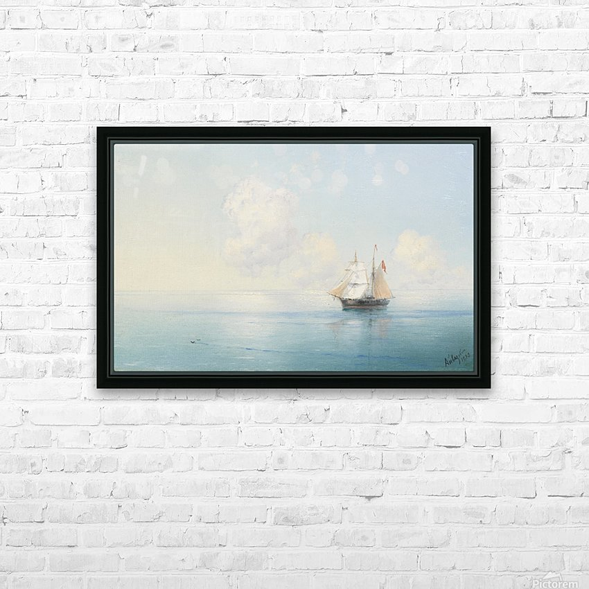 A Calm Morning at Sea HD Sublimation Metal print with Decorating Float Frame (BOX)