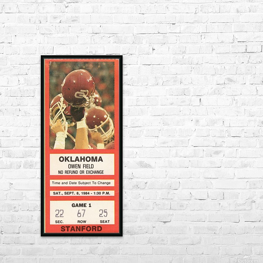 1984_College_Football_Oklahoma vs. Stanford_Owen Field_Row One HD Sublimation Metal print with Decorating Float Frame (BOX)