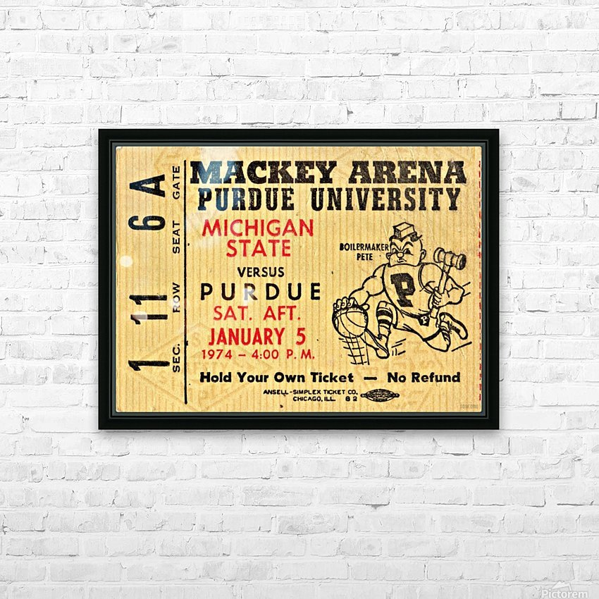 1974_College_Basketball_Michigan State vs. Purdue_Mackey Arena_Row One HD Sublimation Metal print with Decorating Float Frame (BOX)