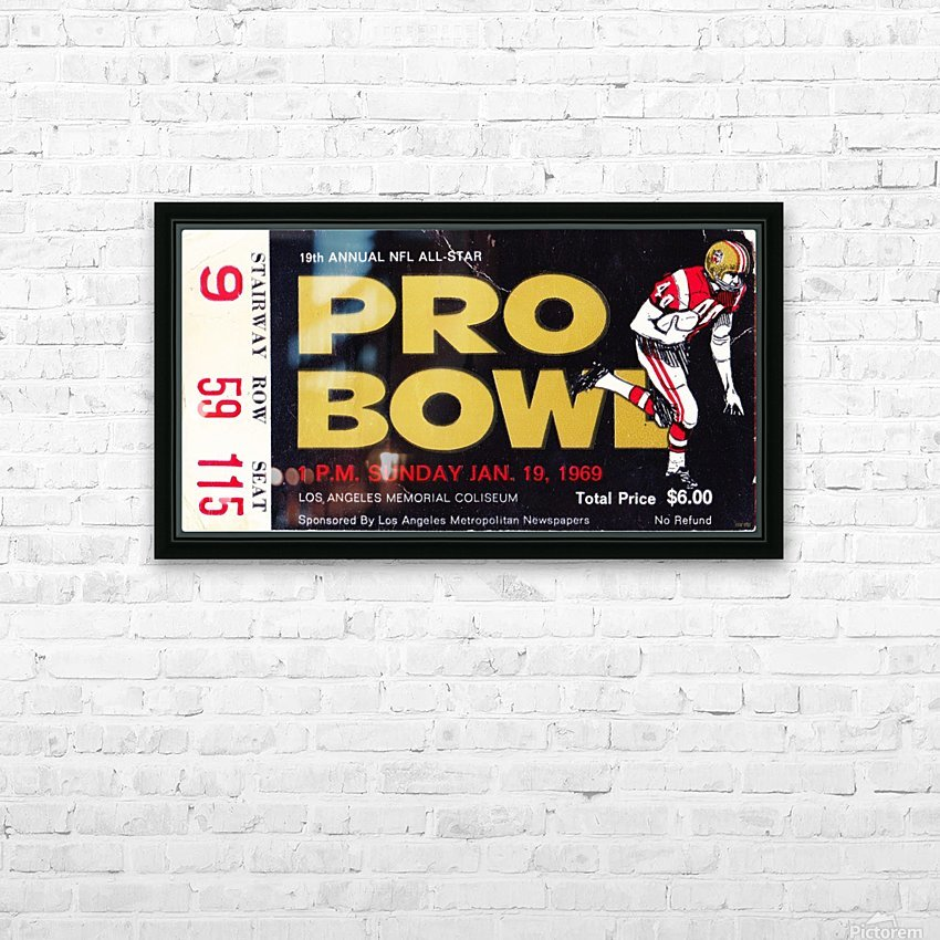 1969_National Football League_Pro Bowl_Los Angeles Coliseum_Row One HD Sublimation Metal print with Decorating Float Frame (BOX)