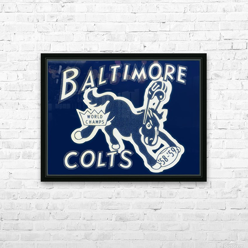1959_National Football League_Baltimore Colts_World Champions_Row One HD Sublimation Metal print with Decorating Float Frame (BOX)