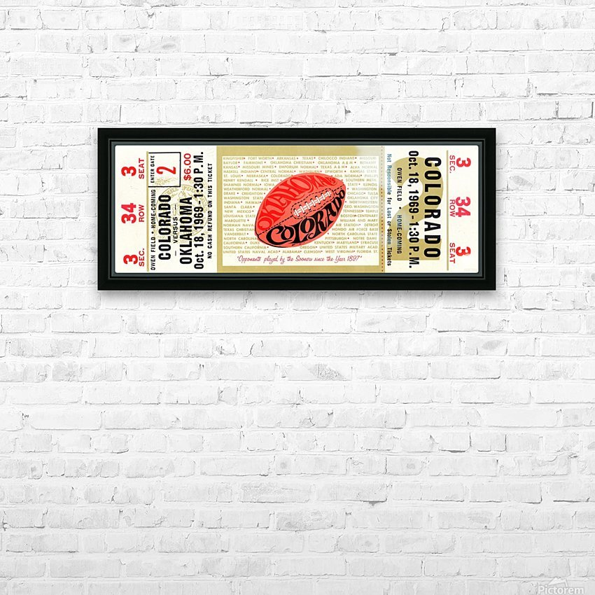 1969_College_Football_Colorado vs. Oklahoma_Owen Field_Norman_Row One HD Sublimation Metal print with Decorating Float Frame (BOX)