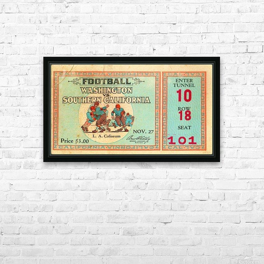 1930 Washington vs. USC HD Sublimation Metal print with Decorating Float Frame (BOX)