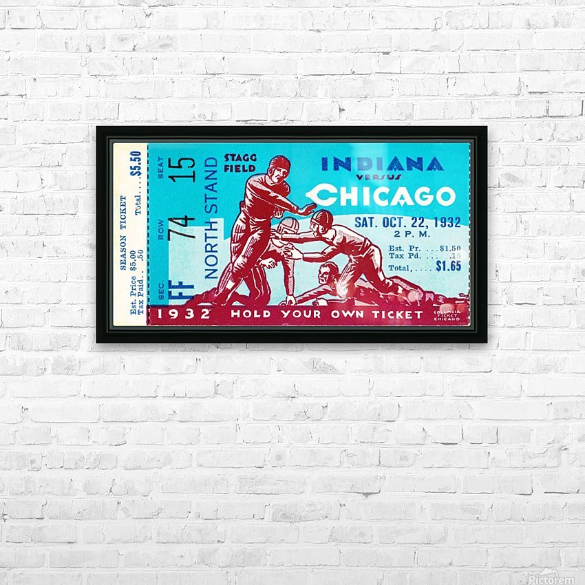 1932 Indiana vs. Chicago HD Sublimation Metal print with Decorating Float Frame (BOX)