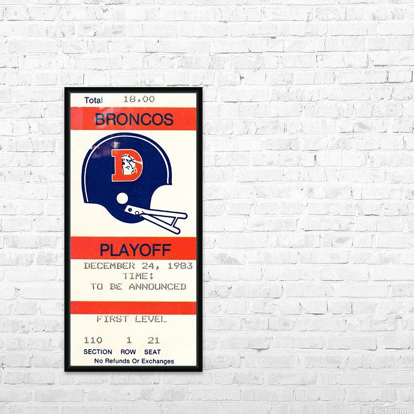 1983 Denver Broncos Football Ticket Stub  HD Sublimation Metal print with Decorating Float Frame (BOX)