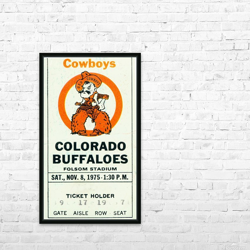 1975_College_Football_Oklahoma State vs. Colorado_Folsom Field_Boulder_Row One HD Sublimation Metal print with Decorating Float Frame (BOX)