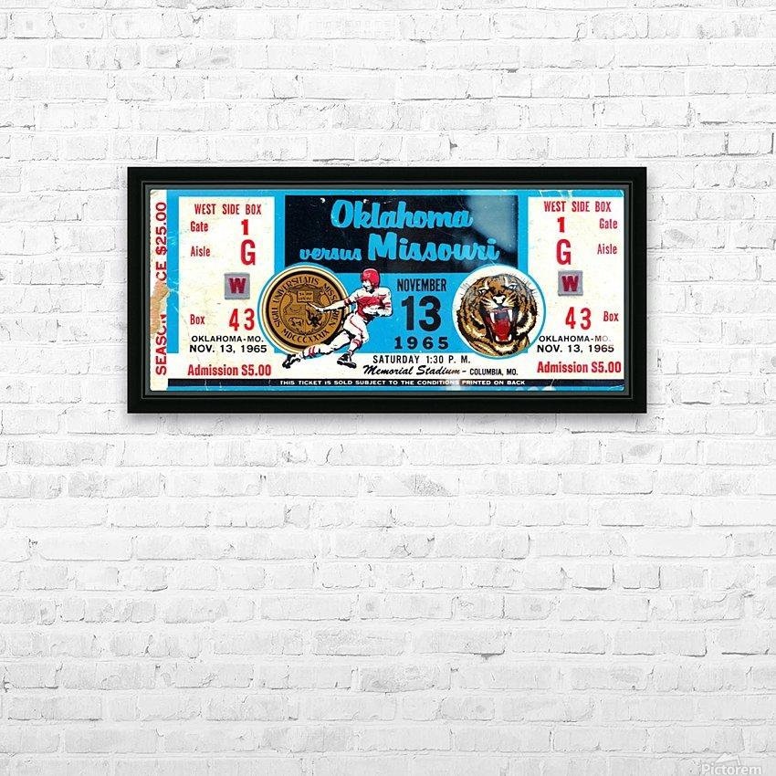 1965_College_Football_Oklahoma vs. Missouri_Memorial Stadium_Columbia_Row One HD Sublimation Metal print with Decorating Float Frame (BOX)