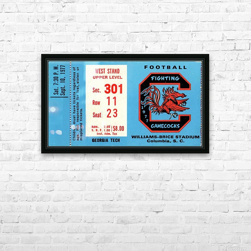1977_College_Football_Georgia Tech vs. South Carolina_Williams Brice Stadium_Row One Brand HD Sublimation Metal print with Decorating Float Frame (BOX)