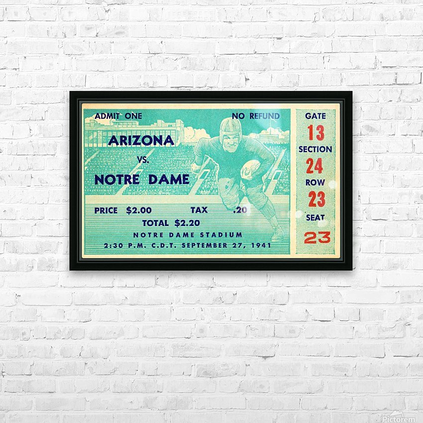 1941_College_Football_Arizona vs. Notre Dame_Notre Dame Stadium_South Bend_Row One Brand HD Sublimation Metal print with Decorating Float Frame (BOX)