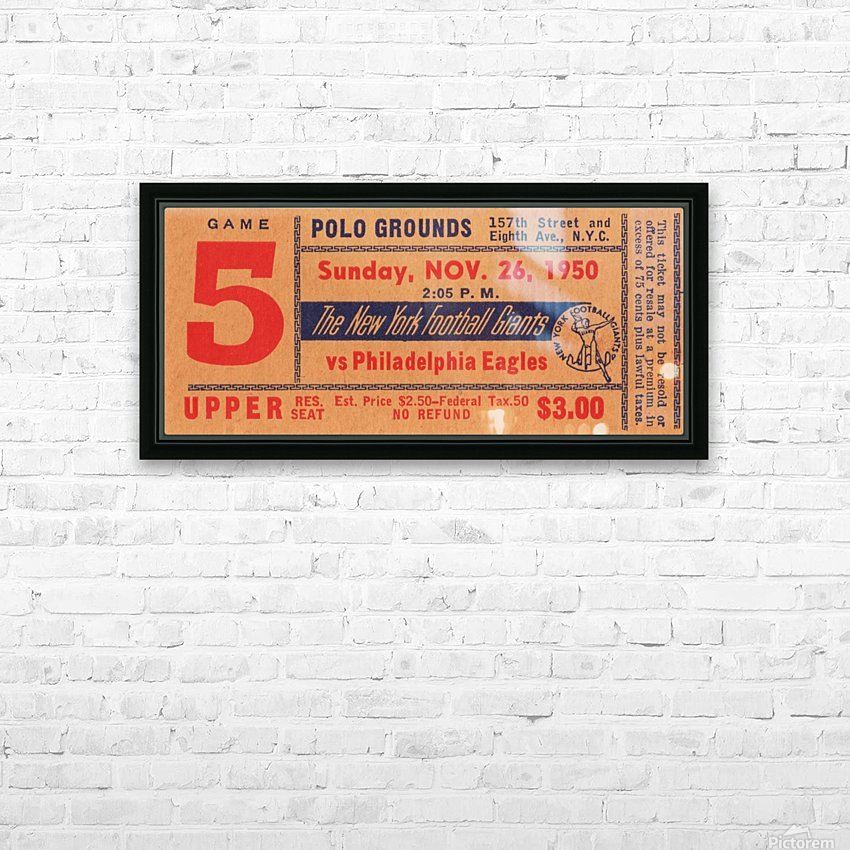 1950_National Football League_Philadelphia Eagles vs. New York Giants_Polo Grounds_NYC_Row One Brand HD Sublimation Metal print with Decorating Float Frame (BOX)