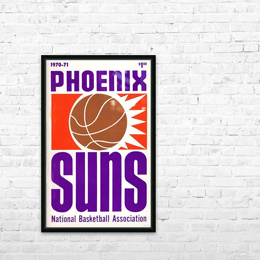 1970 Phoenix Suns HD Sublimation Metal print with Decorating Float Frame (BOX)