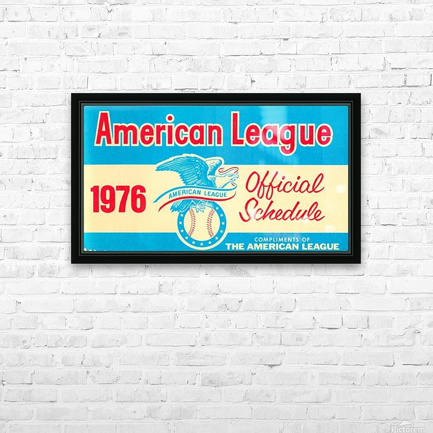 1976_Major League Baseball_American League Schedule_Row One Brand HD Sublimation Metal print with Decorating Float Frame (BOX)