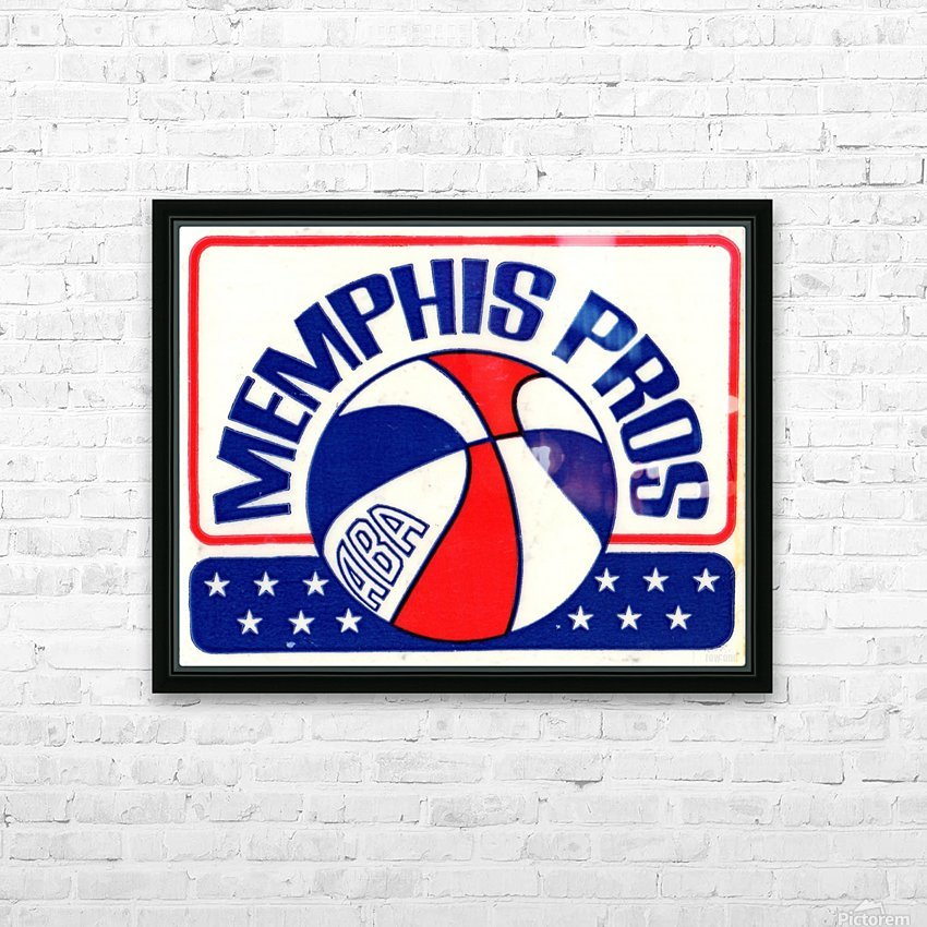 1971_American Basketball Association_Memphis Pros_Row One Brand HD Sublimation Metal print with Decorating Float Frame (BOX)