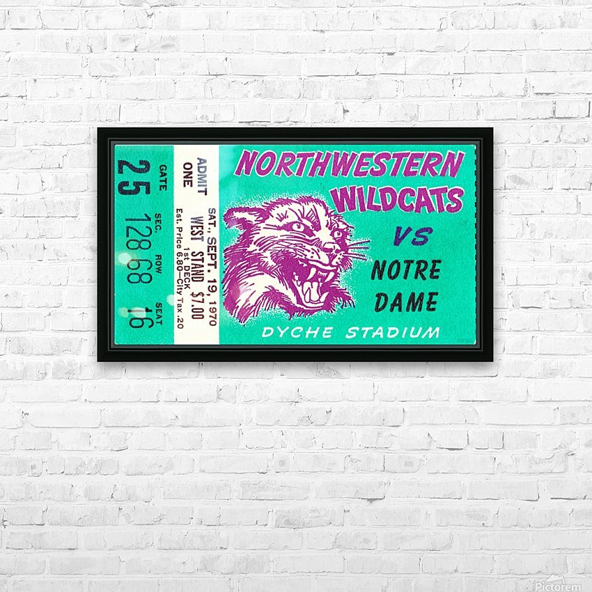 1970_College_Football_Notre Dame vs. Northwestern_Dyche Stadium_Evanston_Row One Brand HD Sublimation Metal print with Decorating Float Frame (BOX)